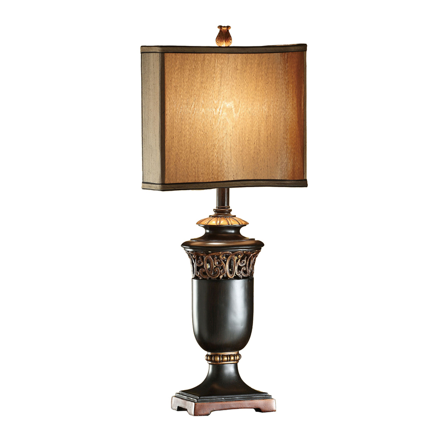 way black and gold indoor table lamp with fabric shade at. Black Bedroom Furniture Sets. Home Design Ideas