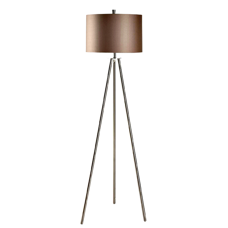 shop absolute decor 60 in brushed nickel finish indoor floor lamp with. Black Bedroom Furniture Sets. Home Design Ideas