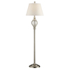 Absolute Decor 59-1/4-in Brushed Nickel Floor Lamp with White Shade