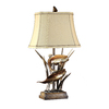 Absolute Decor 32-in 3-Way Bronze Patina Table Lamp with Beige Shade