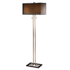 Absolute Decor 59.5-in Oil Rubbed Bronze Indoor Floor Lamp with Fabric Shade