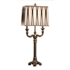 Absolute Decor 34-3/4-in 3-Way Blackened Brass Table Lamp with Cream Shade
