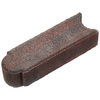 Red Black Matt Log Edging Stone (Common: 3-in x 4-in; Actual: 3-in H x 3-in L)