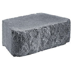 Anchor Block Charcoal Aspen Retaining Wall Block (Common: 12-in x 4-in; Actual: 11.6-in x 4-in)