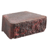 Anchor Block Red/Charcoal Aspen Retaining Wall Block (Common: 12-in x 4-in; Actual: 11.6-in x 4-in)