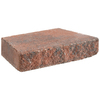 Anchor Block Bertram 12-in L x 2-in H Red Hudson Retaining Wall Cap (Actuals 11.625-in L x 2-in H)