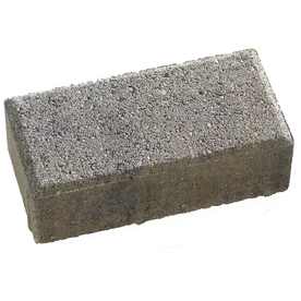 Anchor Block Charcoal/Tan Holland Paver (Common: 4-in x 8-in; Actual: 3.8-in x 7.8-in)