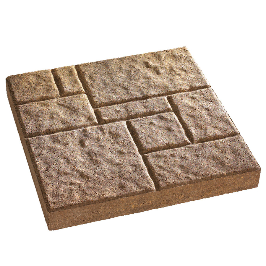 Shop Anchor Block Tan/Brown Four-Cobble Patio Stone (Common: 16-in x 16-in; Actual: 16-in x 16 ...