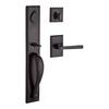 BALDWIN Reserve Longview x Taper Dark Bronze Single-Lock Keyed Entry Door Handleset