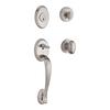 BALDWIN Reserve Columbus x Ellipse Satin Nickel Single-Lock Keyed Entry Door Handleset