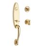 BALDWIN Reserve Chesapeake x Ellipse Lifetime Polished Brass Single-Lock Keyed Entry Door Handleset