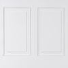 WallDesign Walldesign 48-in x 2.66-ft Recessed White Birch HDF Wainscoting Wall Panel