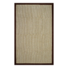 allen + roth 5-ft x 7-ft 9-in Rectangular Brown Border Area Rug