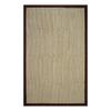 allen + roth Brown Rectangular Indoor Woven Area Rug