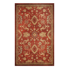 allen + roth 5-ft x 7-ft 9-in Rectangular Red Floral Area Rug