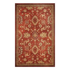 allen + roth Red Rectangular Indoor Woven Area Rug (Common: 5 x 8; Actual: 60-in W x 93-in L)