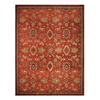 allen + roth 8-ft x 10-ft 6-in Rectangular Red Floral Area Rug