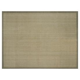 allen + roth Private Party 9-ft x 12-ft Rectangular Beige Border Area Rug