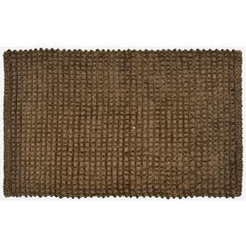 allen + roth Brown Rectangular Indoor Woven Throw Rug (Common: 2 x 4; Actual: 24-in W x 40-in L)