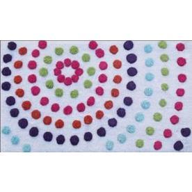 "Style Selections 34"" x 20"" Multicolor Cotton Bath Rug"