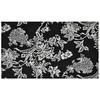 Style Selections Not available 30-in x 50-in Rectangular Black Floral Accent Rug
