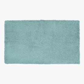 allen + roth 20-in x 34-in Aqua Polyester Bath Rug