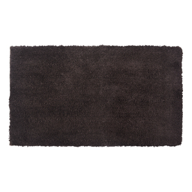allen + roth 20-in x 34-in Chocolate Polyester Bath Rug