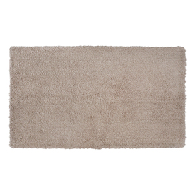 allen + roth 20-in x 34-in Tan Polyester Bath Rug