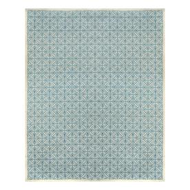 allen + roth Blue Rectangular Indoor Woven Area Rug (Common: 8 x 10; Actual: 96-in W x 120-in L)