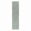 allen + roth Blue Rectangular Indoor Woven Runner (Common: 2 x 8; Actual: 24-in W x 96-in L)
