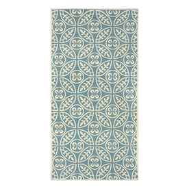 allen + roth Blue Rectangular Indoor Woven Throw Rug (Common: 2 x 4; Actual: 24-in W x 48-in L)