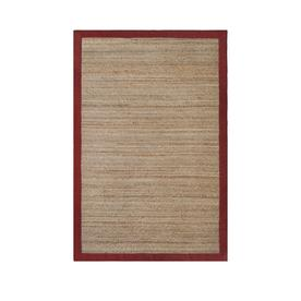 allen + roth Witham Red Rectangular Indoor Braided Area Rug (Common: 5 x 8; Actual: 60-in W x 90-in L)