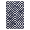 allen + roth Blue Rectangular Indoor/Outdoor Woven Throw Rug (Common: 2 x 3; Actual: 24-in W x 36-in L)