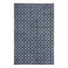 allen + roth Maysburg Navy Rectangular Indoor Woven Area Rug (Common: 5 x 8; Actual: 60-in W x 90-in L)