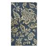 allen + roth Blue Khaki Flower Rectangular Indoor Woven Throw Rug (Common: 2 x 4; Actual: 27-in W x 45-in L)