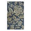 allen + roth Blue Khaki Flower Rectangular Indoor Woven Throw Rug (Common: 2 x 4; Actual: 27-in W x 45-in L)