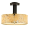 tiella 12-in Bronze Natural Onyx Semi-Flush Mount Light