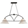 Khaleesi 8-in W 2-Light Antique Bronze Kitchen Island Light with Frosted Shade ENERGY STAR