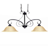 Khaleesi 6-in W 2-Light Old English Bronze Kitchen Island Light with Tinted Shade ENERGY STAR