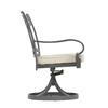 allen + roth Set Of 2 Newstead Gray Textured Slat Seat Aluminum Swivel Rocker Patio Dining Chairs