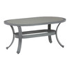allen + roth 2-Piece Newstead Gray Aluminum Patio Conversation Set