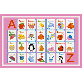 Concord Global Alphabet Dreams 53-in x 73-in Rectangular Multicolor Transitional Area Rug