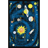 Concord Global Outer Space Black Rectangular Indoor Tufted Kids Throw Rug (Common: 3 x 5; Actual: 39-in W x 55-in L x 3.25-ft Dia)