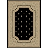 Concord Global Legend 5-ft 3-in x 7-ft 7-in Rectangular Black Floral Area Rug