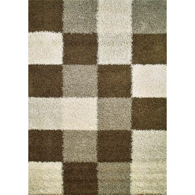 Concord Global Moderno Brown Rectangular Indoor Woven Area Rug (Common: 5 x 7; Actual: 60-in W x 84-in L x 5-ft Dia)