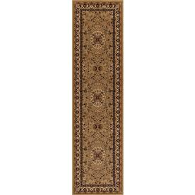 Concord Global Dynasty Gold Rectangular Indoor Woven Oriental Runner (Common: 2 x 8; Actual: 24-in W x 91-in L x 2-ft Dia)