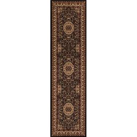 Concord Global Dynasty Black Rectangular Indoor Woven Oriental Runner (Common: 2 x 8; Actual: 24-in W x 91-in L x 2-ft Dia)