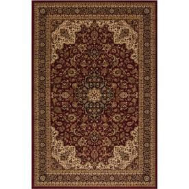 Style Selections Daltorio Red Rectangular Indoor Woven Oriental Area Rug (Common: 5 x 8; Actual: 63-in W x 90-in L x 5.25-ft Dia)