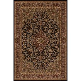 Concord Global Dynasty Black Rectangular Indoor Woven Oriental Area Rug (Common: 5 x 8; Actual: 63-in W x 91-in L x 5.25-ft Dia)