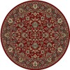 Concord Global 7-ft 10-in Round Red Dynasty Area Rug
